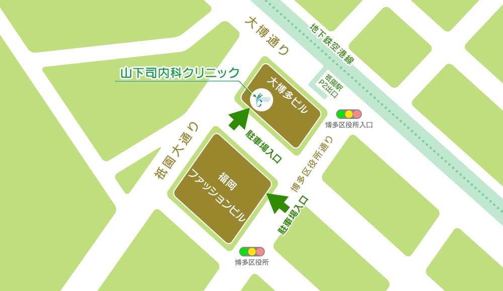 大博多ビル、福岡ファッションビル、地下駐車場 1時間無料